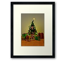 The Christmas Elf Framed Print