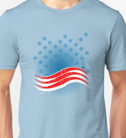 4th July - Independence Day - American Flag Unisex T-Shirt