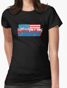 4th July Flag Celebrations Womens Fitted T-Shirt