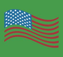 American Flag Wave Kids Clothes