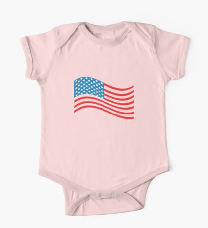 American Flag Wave One Piece - Short Sleeve