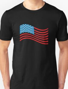 American Flag Wave Unisex T-Shirt