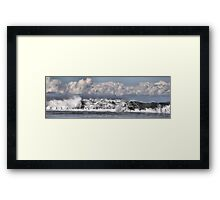 Moody Seas over the Canoe Pool - Newcastle Beach NSW Australia Framed Print