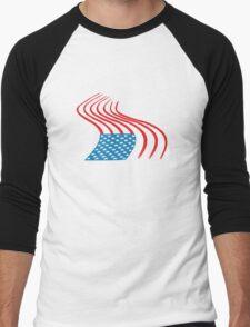 Flag Paint Graffiti Men's Baseball ¾ T-Shirt