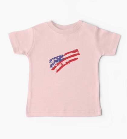 Graffiti USA Flag Baby Tee