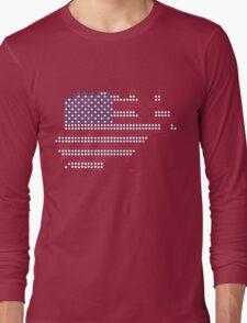 Dot Matrix USA 4th July Long Sleeve T-Shirt