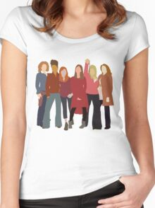 The Women of Doctor Who  Women's Fitted Scoop T-Shirt