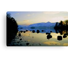 Derwent Water, Lake District National Park. Canvas Print