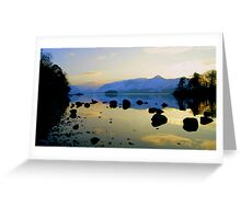 Derwent Water, Lake District National Park. Greeting Card