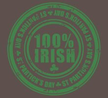St Patricks Day 100% Irish Stamp Baby Tee