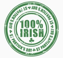 St Patricks Day 100% Irish Stamp Kids Clothes