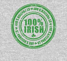 St Patricks Day 100% Irish Stamp Unisex T-Shirt