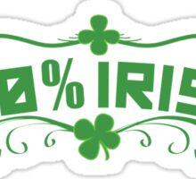 100% Irish Floral Sticker