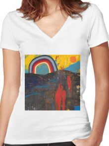 Number 2 (Rainbow Series) Women's Fitted V-Neck T-Shirt