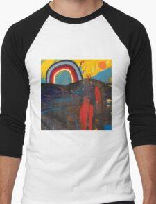 Number 2 (Rainbow Series) Men's Baseball ¾ T-Shirt