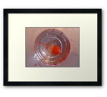 Cherry in a drink Framed Print