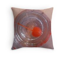 Cherry in a drink Throw Pillow