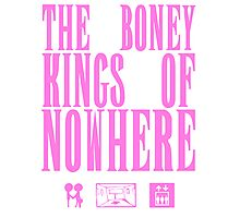 The Boney Kings of Nowhere -Pink Photographic Print