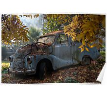 Old Rusty Car Poster