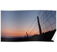 Fence and Summer Sky Poster
