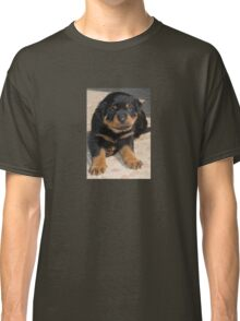 Rottweiler Puppy With Perplexed Facial Expression Classic T-Shirt