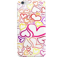 Pink hearts iPhone Case/Skin