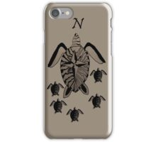 Turtle Compass iPhone Case/Skin