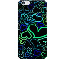 Green hearts iPhone Case/Skin