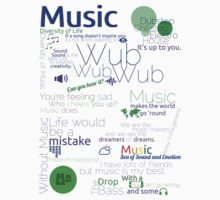 Music Typography Tee by Broadleaf12
