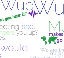 Music Typography Tee Sticker