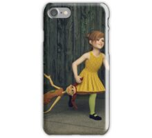 The Little Girl and Her Ragdoll iPhone Case/Skin