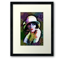 Girl's Twenties Vintage Glamour Art Portrait Framed Print