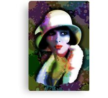 Girl's Twenties Vintage Glamour Art Portrait Canvas Print
