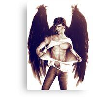 Sexy Benedict Cumberbatch / Winged Sherlock V2 Canvas Print