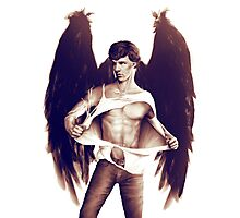Sexy Benedict Cumberbatch / Winged Sherlock V2 Photographic Print