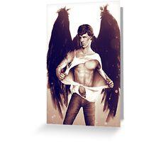 Sexy Benedict Cumberbatch / Winged Sherlock V3 Greeting Card