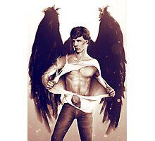 Sexy Benedict Cumberbatch / Winged Sherlock V3 Photographic Print