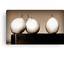 Three Lovely Pears Canvas Print