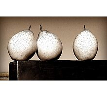 Three Lovely Pears Photographic Print