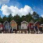 Beach Hut Panorama  by cameraimagery