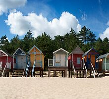 Beach Hut Panorama  by Peter Towle