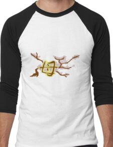 mother cherry blossom tree Men's Baseball ¾ T-Shirt