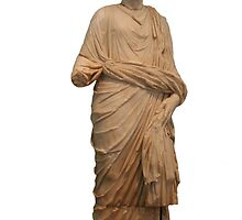 Statue of A Roman Priest Wearing A Toga by taiche