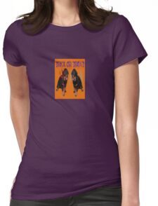 Cute Rottweiler Halloween Trick or Treat Greeting Womens Fitted T-Shirt