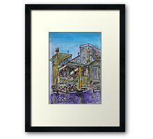 Watercolor Sketch - 7 Issaquah Dock, Sausalito, Califonia 2012 Framed Print