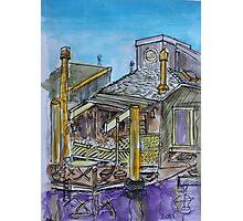 Watercolor Sketch - 7 Issaquah Dock, Sausalito, Califonia 2012 Photographic Print
