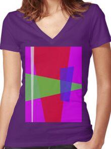 Blue Glassg Women's Fitted V-Neck T-Shirt