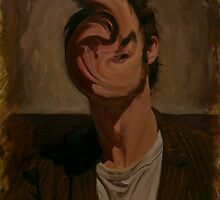 Self Portrait With Deformed Face by benwilsonartist