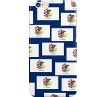 Smartphone Case - State Flag of Illinois - Patchwork Blue iPhone Case/Skin