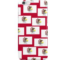 Smartphone Case - State Flag of Illinois - Patchwork Red iPhone Case/Skin